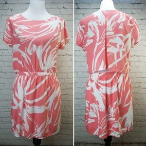 BANANA REPUBLIC Coral Open Back Summer Dress L